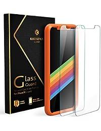 Pellicole iPhone X Anker KARAPAX GlassGuard Pellicola Protettiva per iPhone X - GARANZIA A VITA – con Tecnologia Doppia Difesa e Vetro Temperato [Pack da 2]