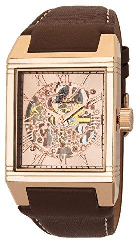 Burgmeister Armbanduhr für Herren mit Analog Anzeige, Automatik-Uhr und Lederarmband - Wasserdichte Herrenuhr mit zeitlosem, schickem Design - klassische Uhr für Männer - BM229-335 Colchester