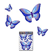BUTTERFLY Blue D1 Small Animal Pack Car Stickers Decals - ST00025BL_SML - JAS Stickers