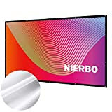 Écran de Projection, NIERBO Ecran Projecteur Anti-Pliage 120' 16:9 Portable Extérieur Écran pour Vidéoprojecteurs 290x163cm