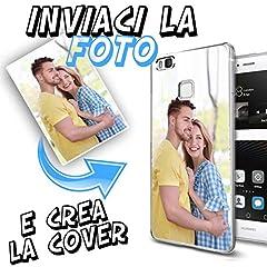 Idea Regalo - INKOVER Cover Custodia Personalizzata con Foto o Scritte a Piacere per Huawei P9 Lite Protettiva Guscio Soft Case Bumper Trasparente Sottile Slim Fit TPU Gel Morbida Huawei P9 Lite