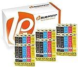 Bubprint 30 Druckerpatronen kompatibel für Epson T1281 - T1284 für Stylus S22 SX125 SX130 SX230 SX235W SX420W SX425W SX430W SX435W SX440W SX445W