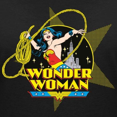DC Comics Originals Wonder Woman Lasso Rétro T-shirt col V Femme de Spreadshirt® Noir