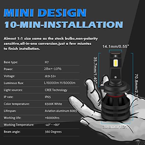 KaTur 24-smd-4014/6500/K 2/x H1/LED lampadine di ricambio per auto fari luci diurne per auto