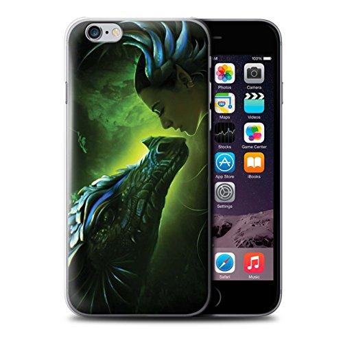 Officiel Elena Dudina Coque / Etui pour Apple iPhone 6+/Plus 5.5 / Pack 5pcs Design / Dragon Reptile Collection Écailles Vertes