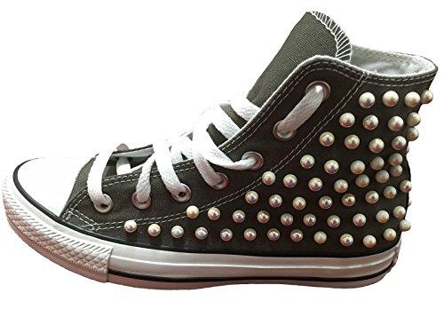 Stefano Natussi , Baskets pour homme Gris - Charcoal (grigio scuro)