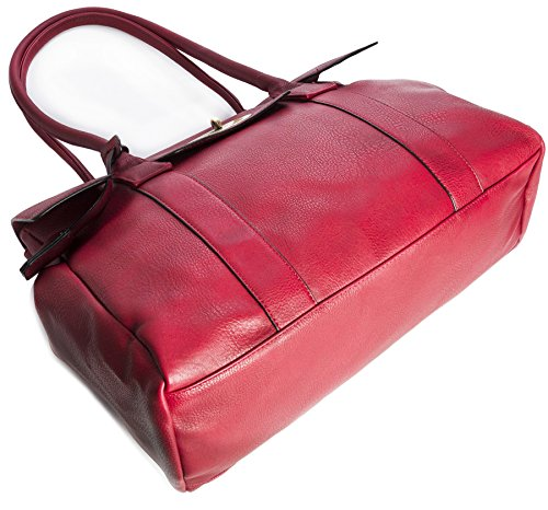 Big Handbag Shop Damen, Handtasche, Kunstleder Designer-inspiriert Beige