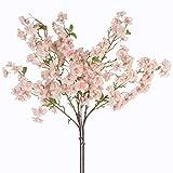 Jarown - Rametti artificiali di fiori di ciliegio decorativi, per matrimoni, 2 pezzi, in seta Pink