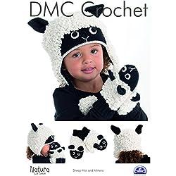 DMC ovejas Hat & a Juego Manoplas de Punto para bebé