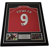 Sportagraphs Robbie Fowler SIGNED FRAMED Shirt Photo Autograph Liverpool Football AFTAL COA PERFECT GIFT