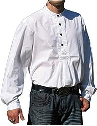 Traje Camisa Blanco Isar pfoad algodón camisa s–XXXL Oktoberfest Camisa