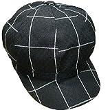 Yue Lian Damen Schirmmütze Barett Maler Hut Baskenmütze Newsboy Cap(Schwarz)