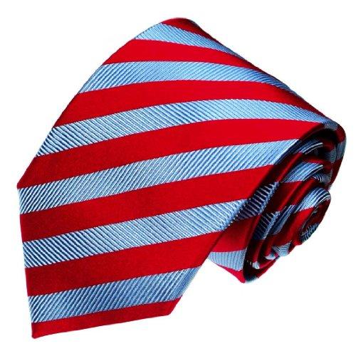 Lorenzo Cana - Corbata - Rayas - para hombre rojo rojo