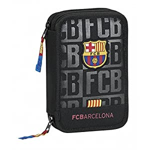 Plumier F.C.Barcelona Black doble 34pz