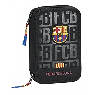 Plumier F.C.Barcelona Black doble 34pz