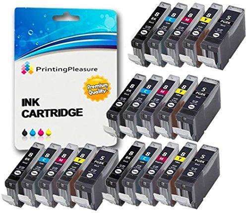 20 Compatibili PGI-5 CLI-8 Cartucce d'inchiostro per Canon Pixma MP500 MP530 MP600 MP600R MP610 MP8