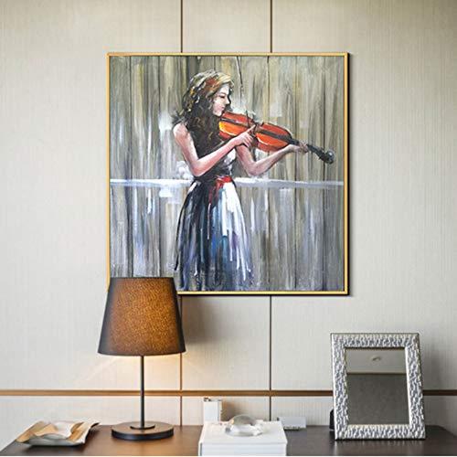 CPDZ Einfach und modern handbemalte Ölmalerei steigend und fallender Sound auf Leinwand Wall Art für die Wanddekoration bereit, auf Sitting Room Porch Speisesaal Dekoration Malerei