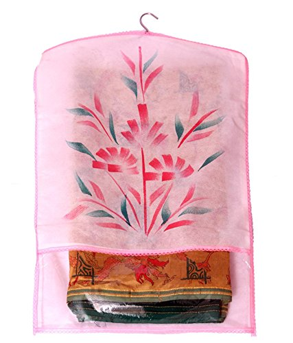 Kuber Industries™ Transparent Kota Doria Hanging Saree Cover (Set of 12) -...