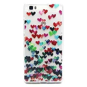 Voguecase® Per Huawei P8 Lite Custodia fit ultra sottile Silicone Morbido Flessibile TPU Custodia Case Cover Protettivo Skin Caso (Colore Love Heart) Con Stilo Penna