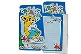12 tlg. Set Einladungskarten die Schlümpfe + Umschlag Party Einladung Karte Schlumpf Papaschlumpf