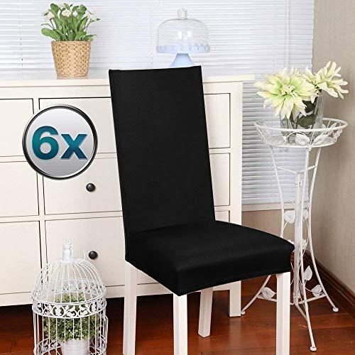 Fundas para sillas Pack de 4 Fundas sillas Comedor Fundas elásticas, Cubiertas para sillas,bielástico...