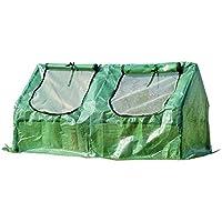 Invernadero de Jardín y Terraza para Cultivo de Plantas - Color Verde - Tubo Acero y Plástico - 120x60x60 cm