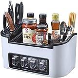 MEICHEN-Racks de herramienta de cocina cocina cuchara palillos bandeja para rack de almacenamiento de plástico rack,vino blanco
