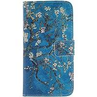 KATUMO® Galaxy Grand 2 Funda Trasera Cubierta de Piel Flip Case Cover para Samsung Galaxy Grand 2 SM-G7106/G7102 /G7105 PU Carcasa Cuero Pistolera Cartera para Tarjetas-Azul