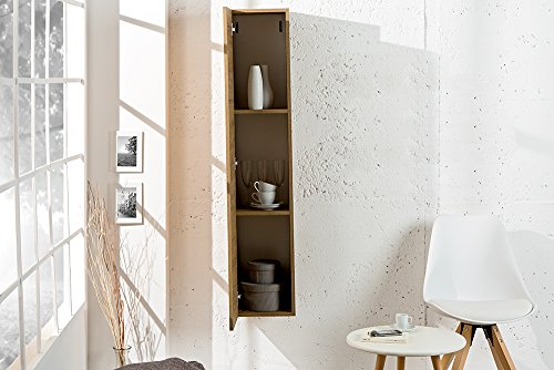 Moderner Design CUBE Eiche natur Wandregal Hängeschrank made in Italy - 5