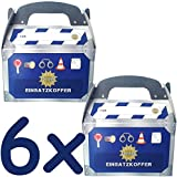 6 Geschenkboxen * POLIZEI * für Kinderparty und Kindergeburtstag von DH-Konzept // Mitgebsel Geschenk Treat Box Partybox Pappe Papier Kinder Geburtstag Motto Party