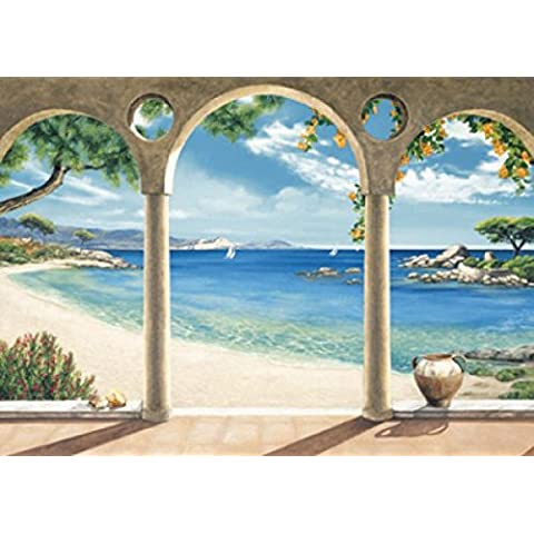 Spiagge - Mediterranean Bay I By Robert Dominguez Stampa D'Arte (138 x 98cm)
