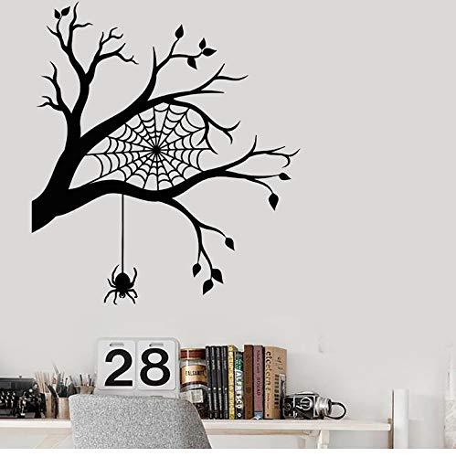 DongOJO Moderne raumdekorative wandaufkleber Baum AST Halloween Aufkleber Dekoration Schlafzimmer lustige Aufkleber 56x63 cm (Halloween Ast, Dekoration)