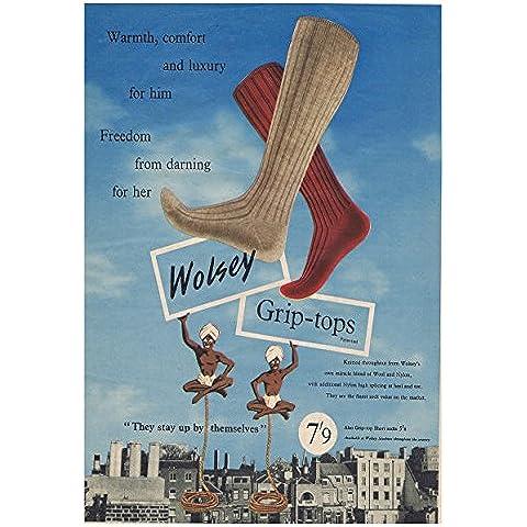 Wolsey calcetines 4 - comercial de la vieja escuela diseño de carteles de fotos impresión tamaño A3