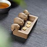 GBCJ Abschnitt des Schlammteelöffels lila Töpfer-Tee kreativer Tee spielender Ferkel Trinken Schweintee verdorbenes Essen und Kleidung, Piggy Schatztopf-Tee *