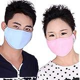 Adulte PM 2,5Pollen Masque anti-poussière lavable en machine anti-buée anti-poussière Visage Bouche Masque chaud antibactérien Charbon actif Filtre Contour d'oreille masque bouche visage mask-pack de 1