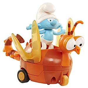 The Smurfs Pitufos Clumsy On Dragonfly Figura