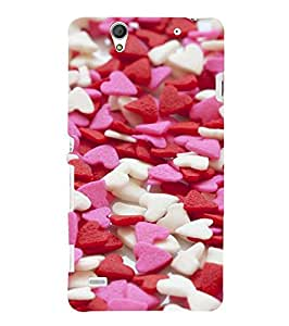 Fuson Designer Phone Back Case Cover Sony Xperia C4 Dual :: Sony Xperia C4 Dual E5333 E5343 E5363 ( Little Heart Shaped Things All Over )