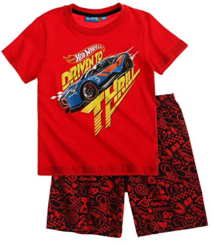 hot-wheels-ragazzi-pigiama-maniche-corte-rosso-104