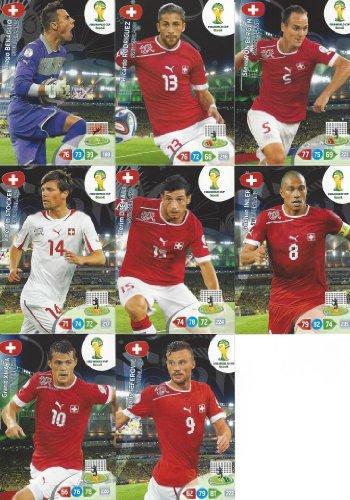 FIFA World Cup 2014 Brazil Adrenalyn XL Switerland Base Card Team Set -