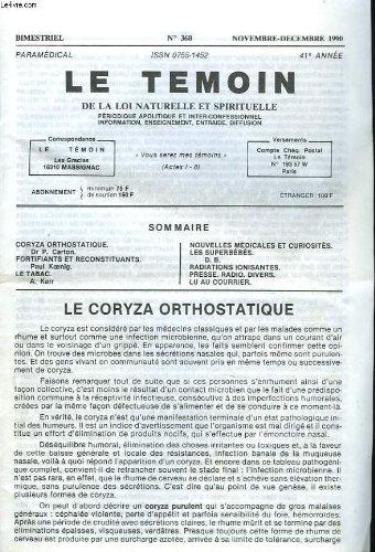 le-temoin-des-lois-naturelles-et-spirituelles-n360-nov-dec-1990-le-coryza-orthostatique-dr-p-carton-