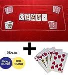 Unbekannt Rot Texas Holdem/Poker Casino Filz Filz Layout + Jalousien + Spielkarten