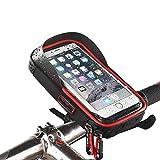 Wasserdicht Fahrradlenkertasche Handyhalterung Handyhalter Fahrrad Tasche Fahrradtasche Rahmentaschen für Handy GPS Navi und andere Edge bis zu 6 Zoll Geräte