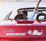 tjapalo® pkm245 Autoaufkleber namen Aufkleber Auto Aufkleber Name Rennschnecke Sticker Name (breite31cm)