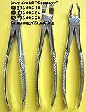 3 St. Zahnzangen,Extracting,Extraction, Estrazione, Englische Form Fig.18+20+56, Hochwertiger Edelstahl nach DE-DIN