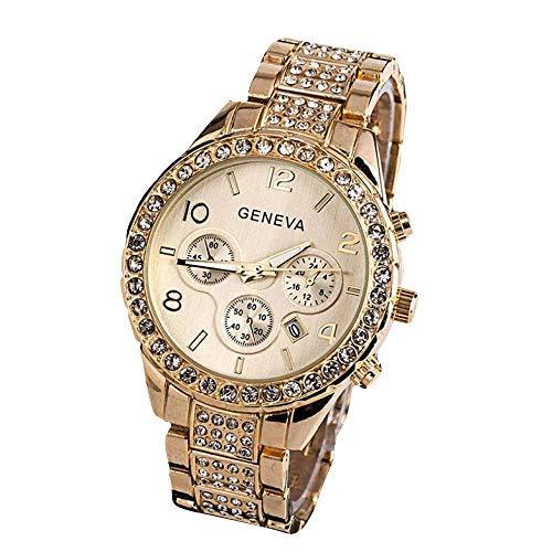 Hot Sale.firally Horloge à Quartz de Cristal de Luxe Mode féminine de Genève Wristwatches Montres de Poignet Montres pour Femme Or