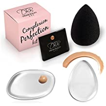 Best silicone Sponge & beauty Blender kit – Dream beauty box 3 pezzo originale Complexion Perfection – 2 Clear gel, trucco applicatore, cuscino imbottito – 1 Premium nero, senza lattice, lacrima Beautyblender
