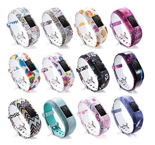 Dingtool Armband Kompatibel für Garmin Vivofit JR 2, Kinder Uhrenarmband für Garmin Vivofit JR 2 Ersatzarmband (Tracker ist Nicht im Lieferumfang enthalten) (12pcs)
