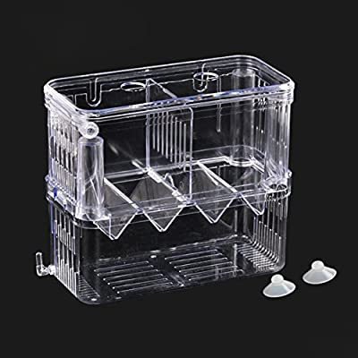 Young Fish Breeding Box Tank for Fish Transparent Fish Breeder Box Fish Egg Hatchery Young Fish Isolation Box