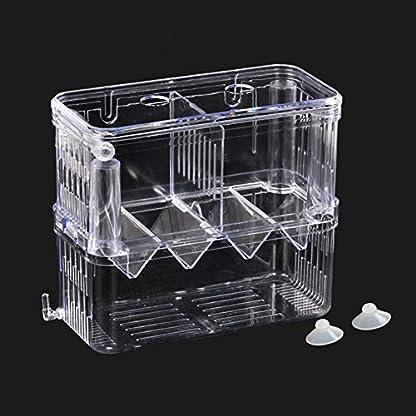 High-Transparent Self-Floating Multi-Function Fish Floating Fish Aquarium Hatchery Hatchery Box Double Layer Fish Tank… 4