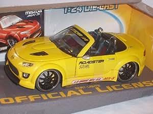 X-Tuners Mazda Mx5 Mx-5 Nc 3Ème Génération Jaune Tuning Éclairage 1/24 X-Tuners Voiture Modèle